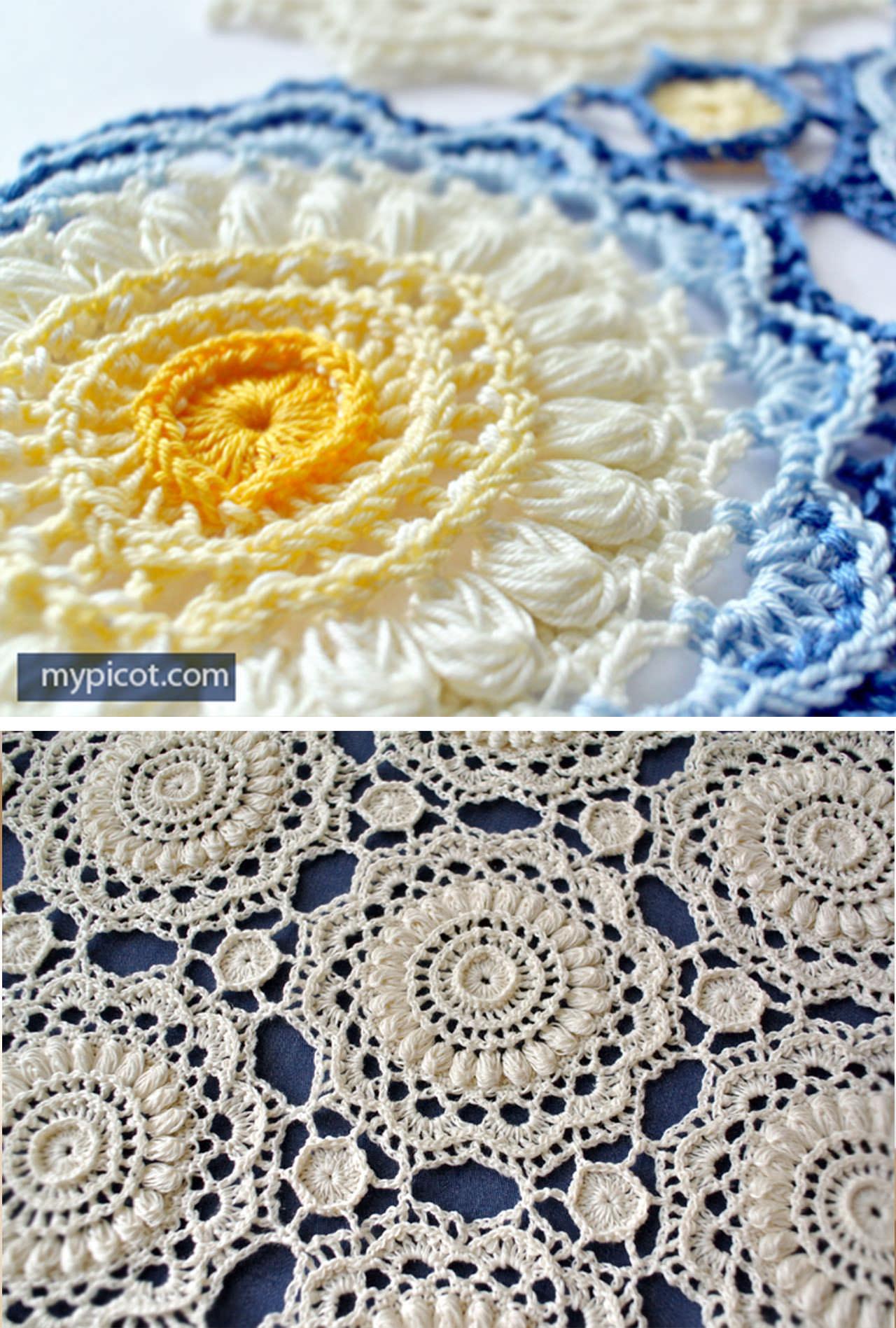 Crochet Lace Sunflower Doily Pattern