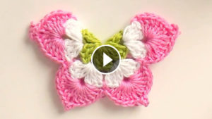 Lovely 3D Crochet Butterfly Tutorial