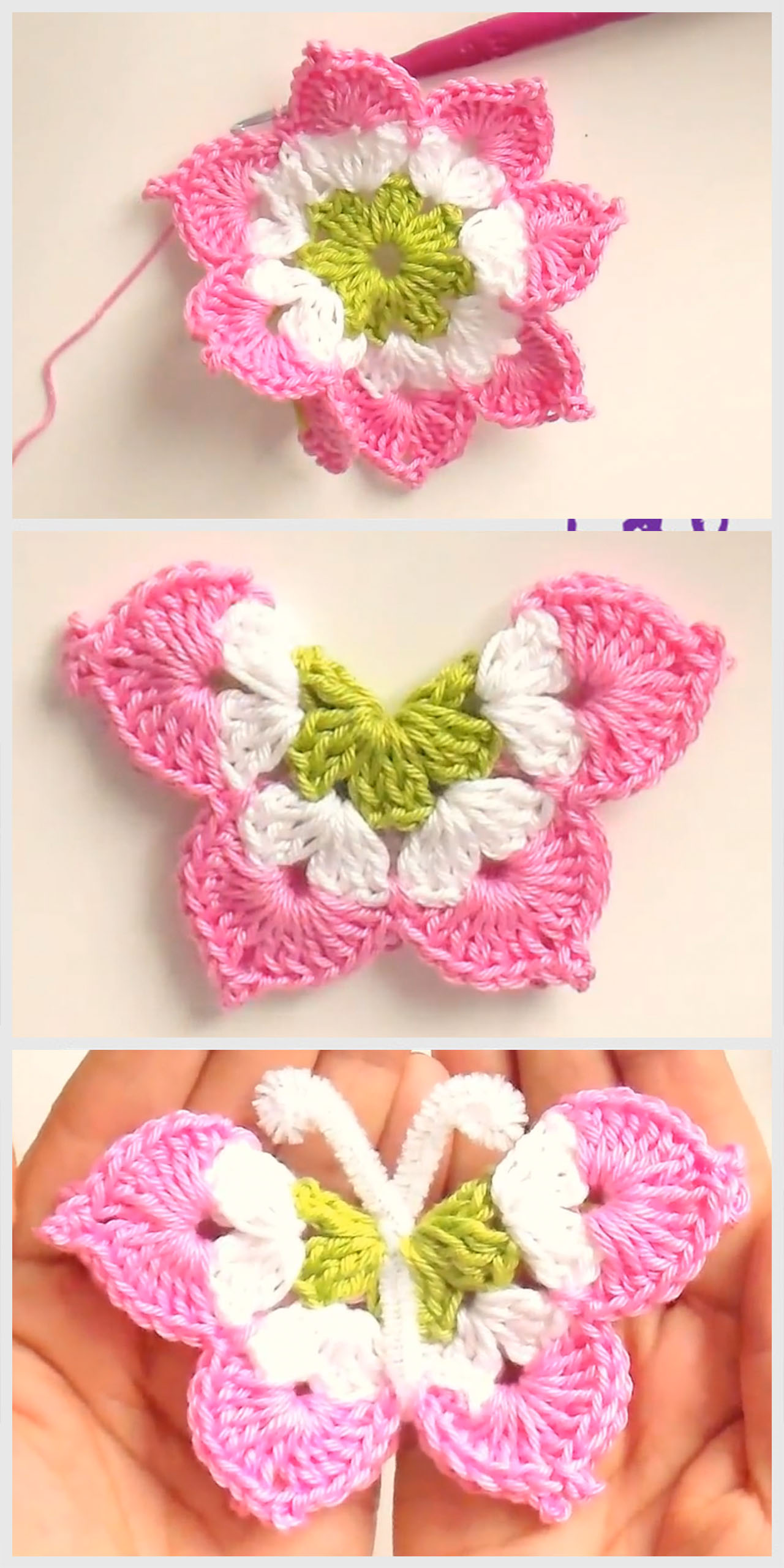 Lovely Crochet Butterfly Pattern Tutorial