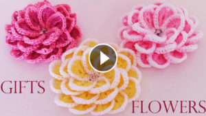 Lovely Crochet Flowers Easy Tutorial
