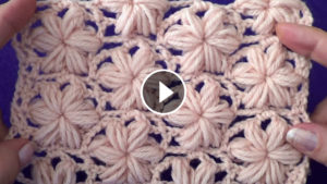 Puff Stitch Crochet Flower Pattern And Tutorial
