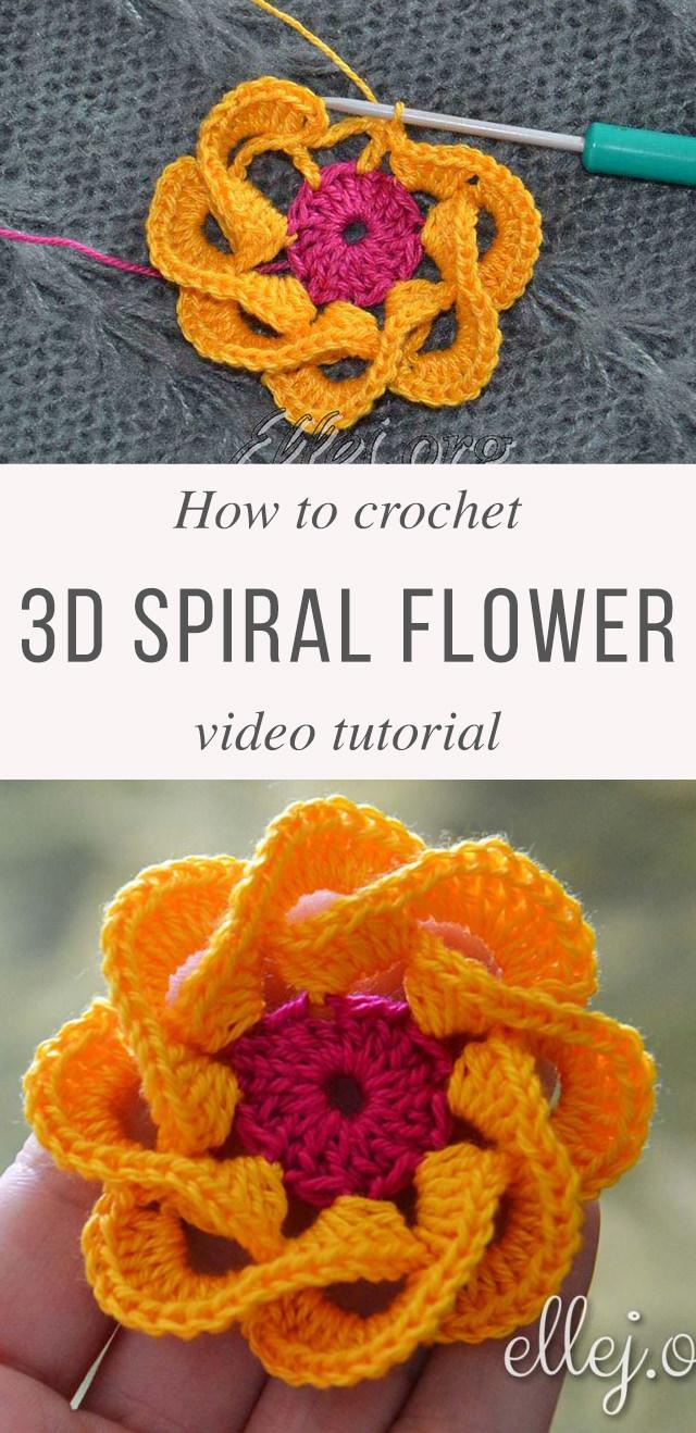 Multi Petals Crochet Flower Pattern Tutorial | CrochetBeja