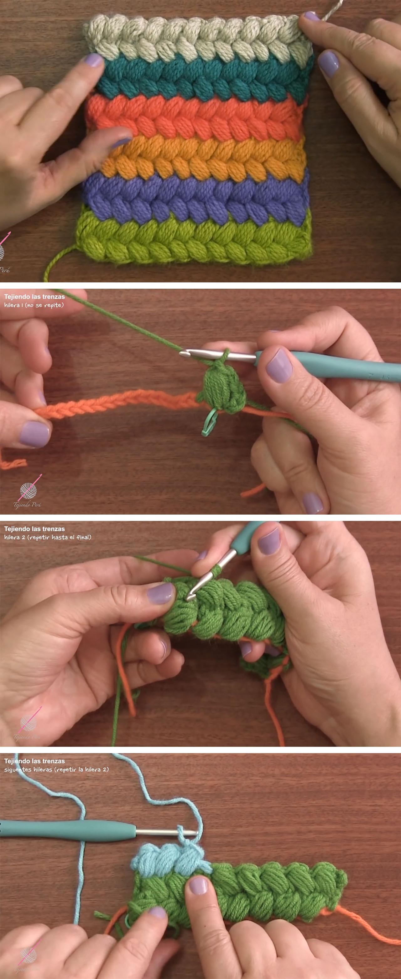 Braid Puff Stitch Crochet Tutorial