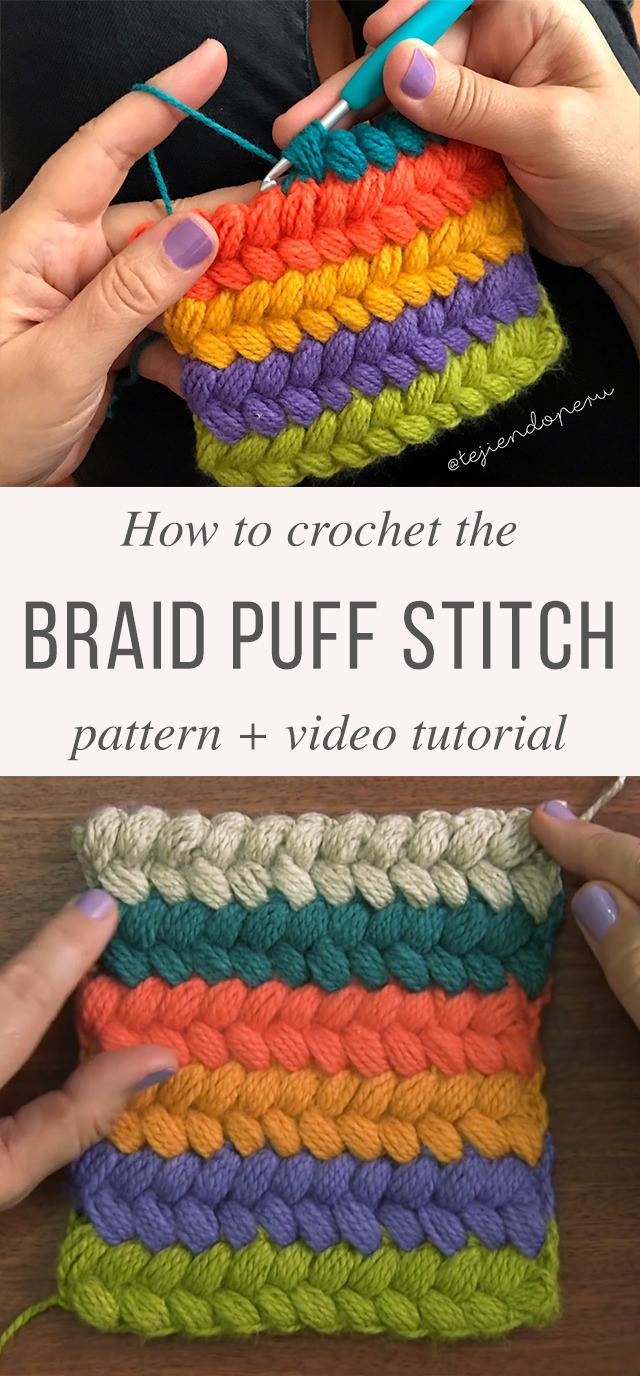 Braid Puff Stitch Free Crochet Pattern Video Tutorial