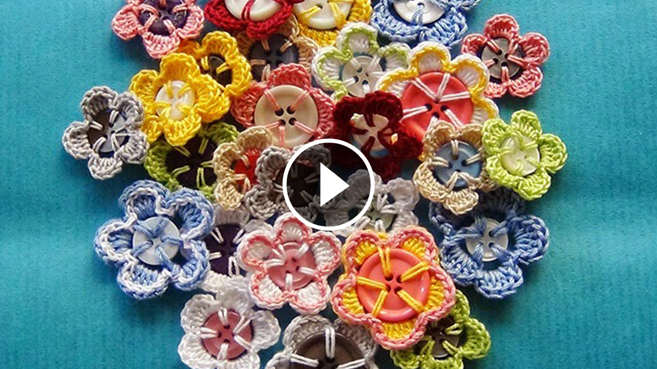 Stunning Crochet Flower Buttons Tutorial