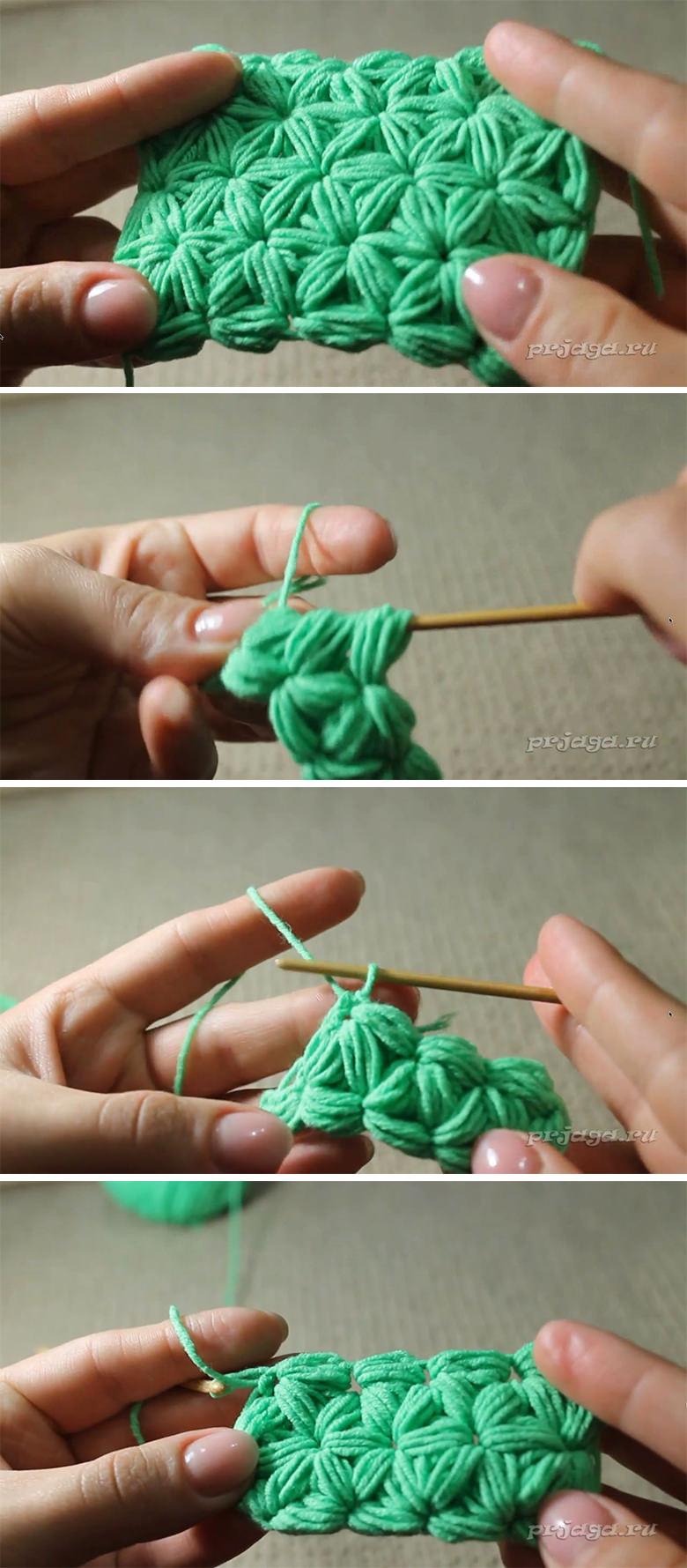 Jasmine Stitch Crochet Pattern Tutorial