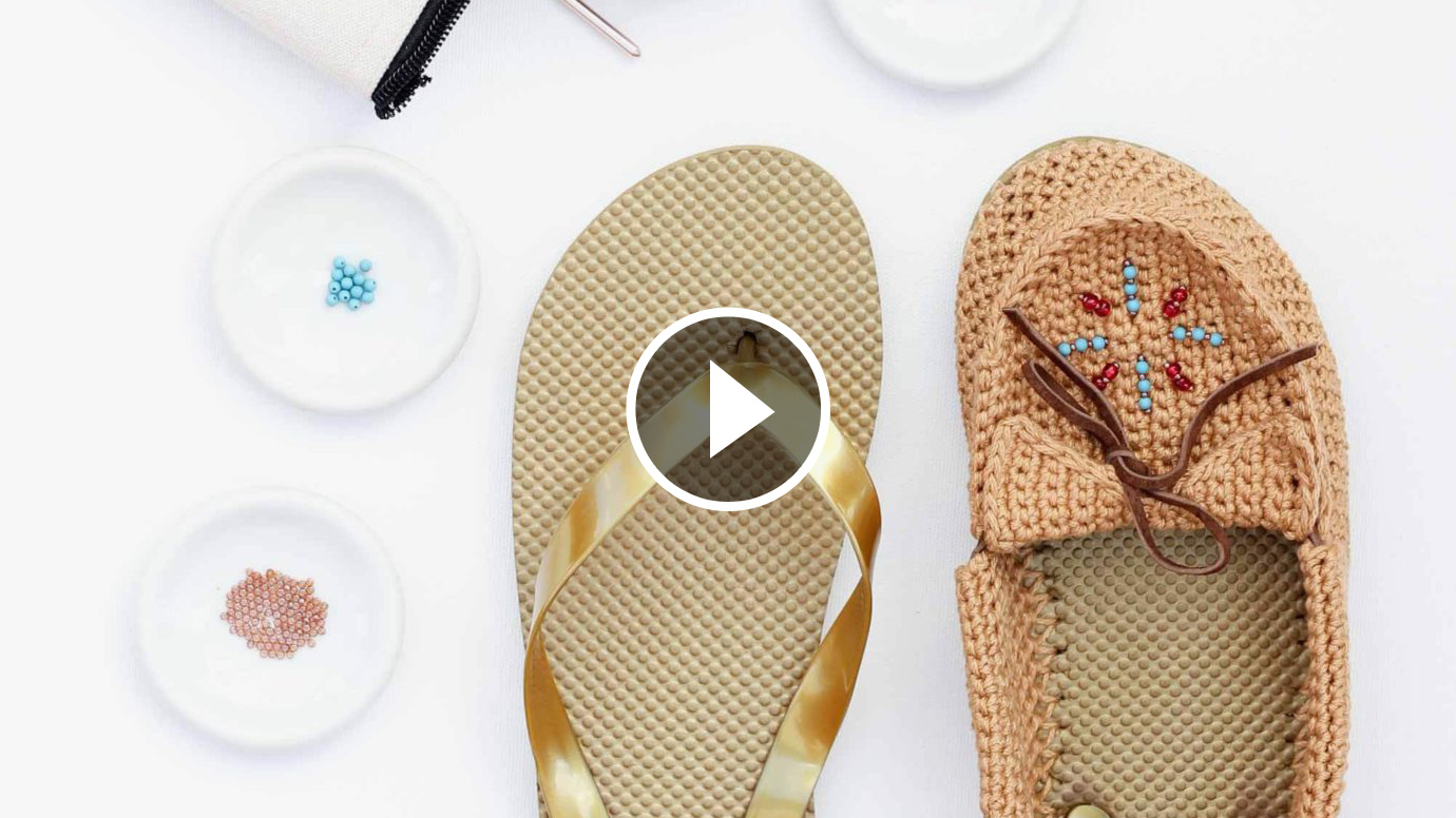 Crochet On Flip Flops Tutorial