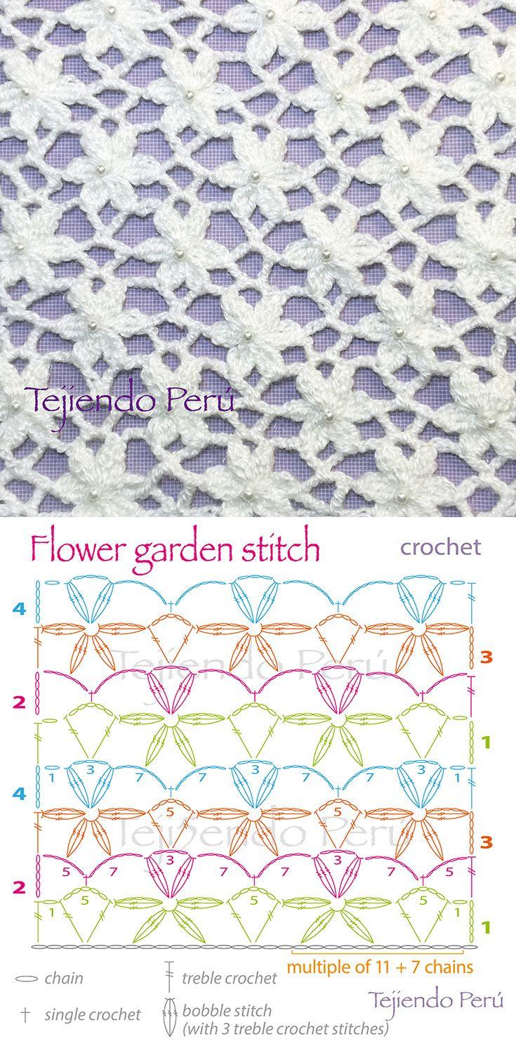 Garden Flower Stitch Crochet Pattern Tutorial