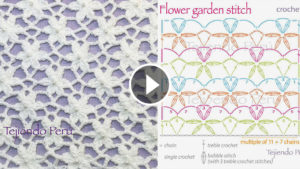 Garden Flower Stitch Crochet Pattern Tutorial