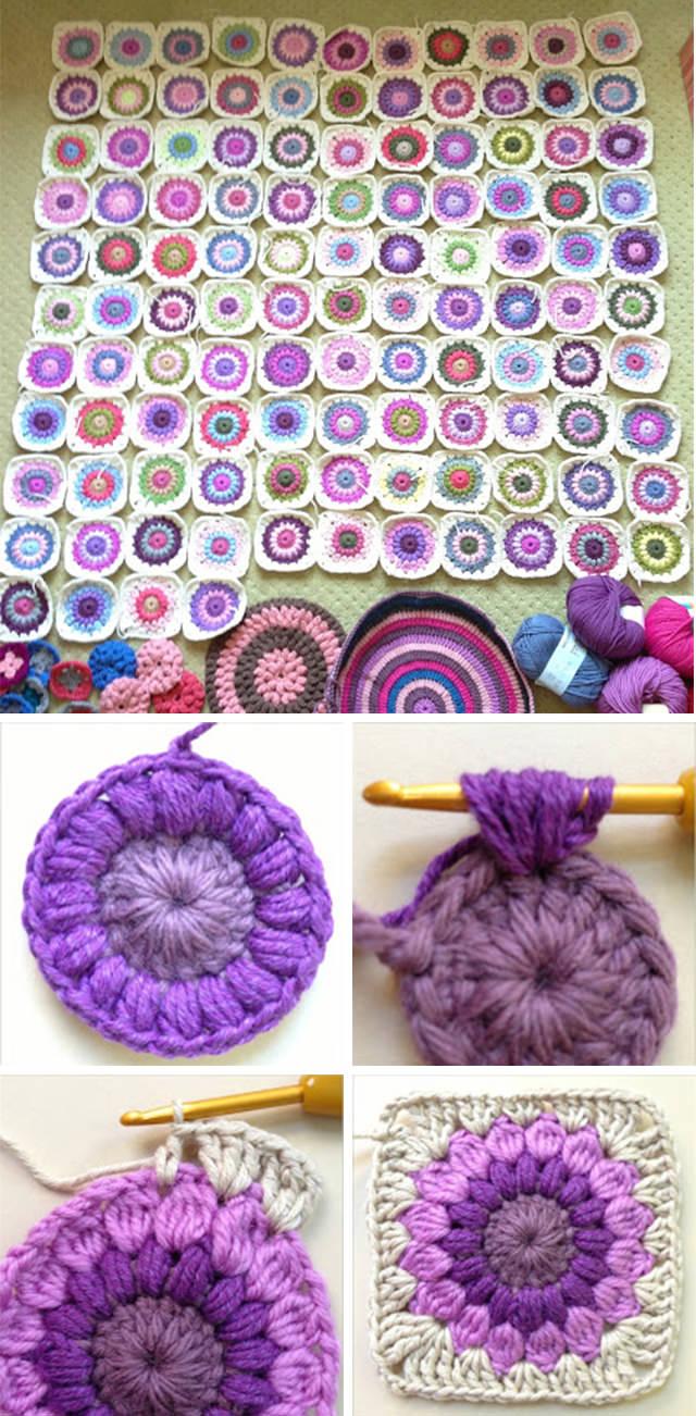 Granny Square Blanket Crochet Pattern