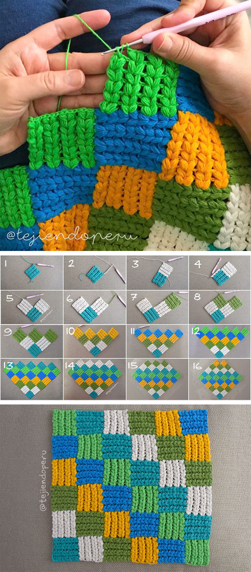 Interlaced Braid Stitch Crochet Pattern Tutorial