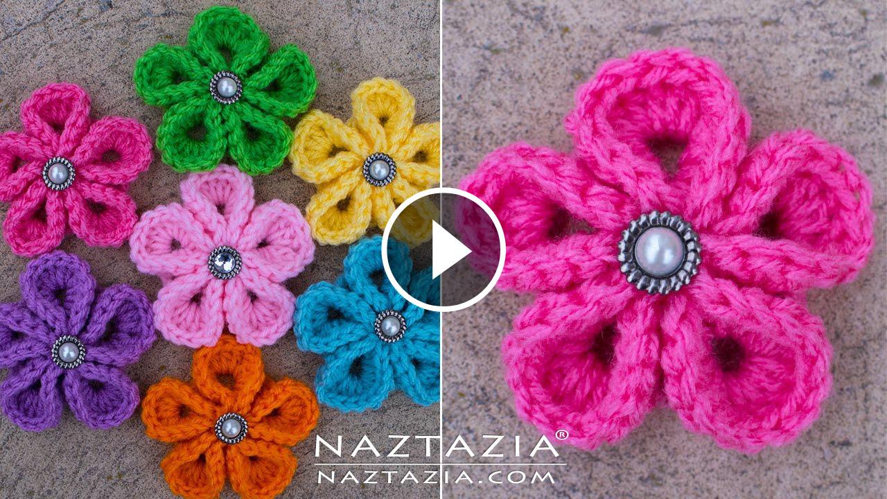 Crochet Kanzashi Flower Tutorial