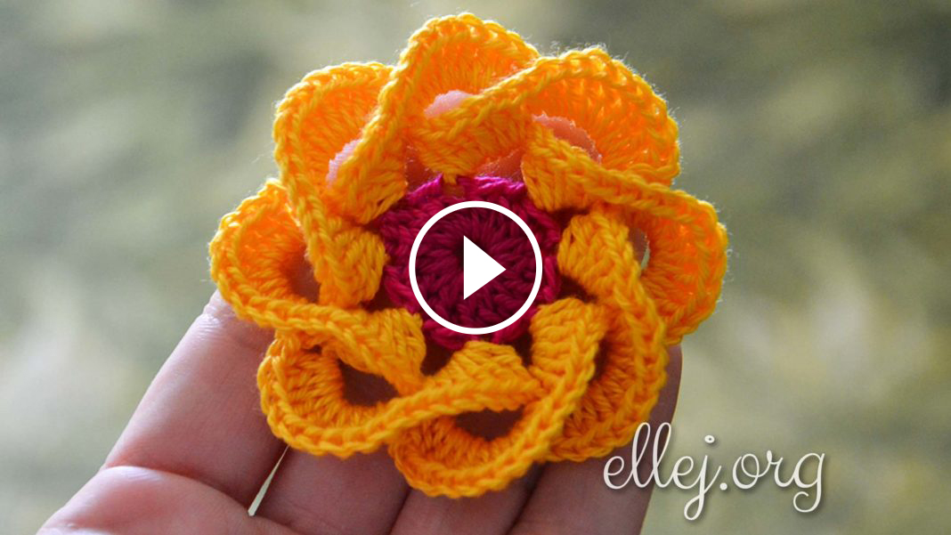 Multi Petals Crochet Flower Pattern Tutorial Crochetbeja