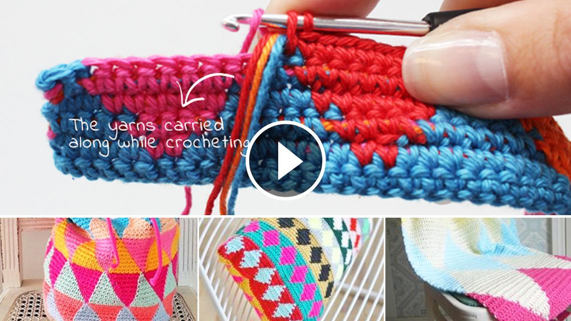 Multicolor Mochila Tapestry Crochet Tutorial