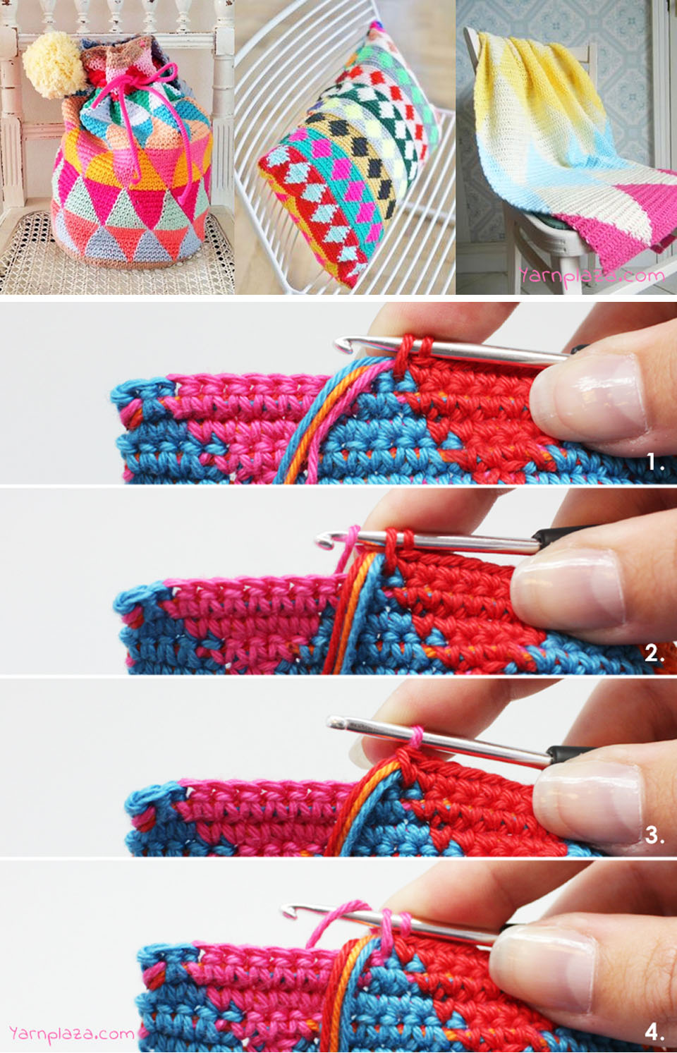 Multicolor Mochila Tapestry Pattern Tutorial
