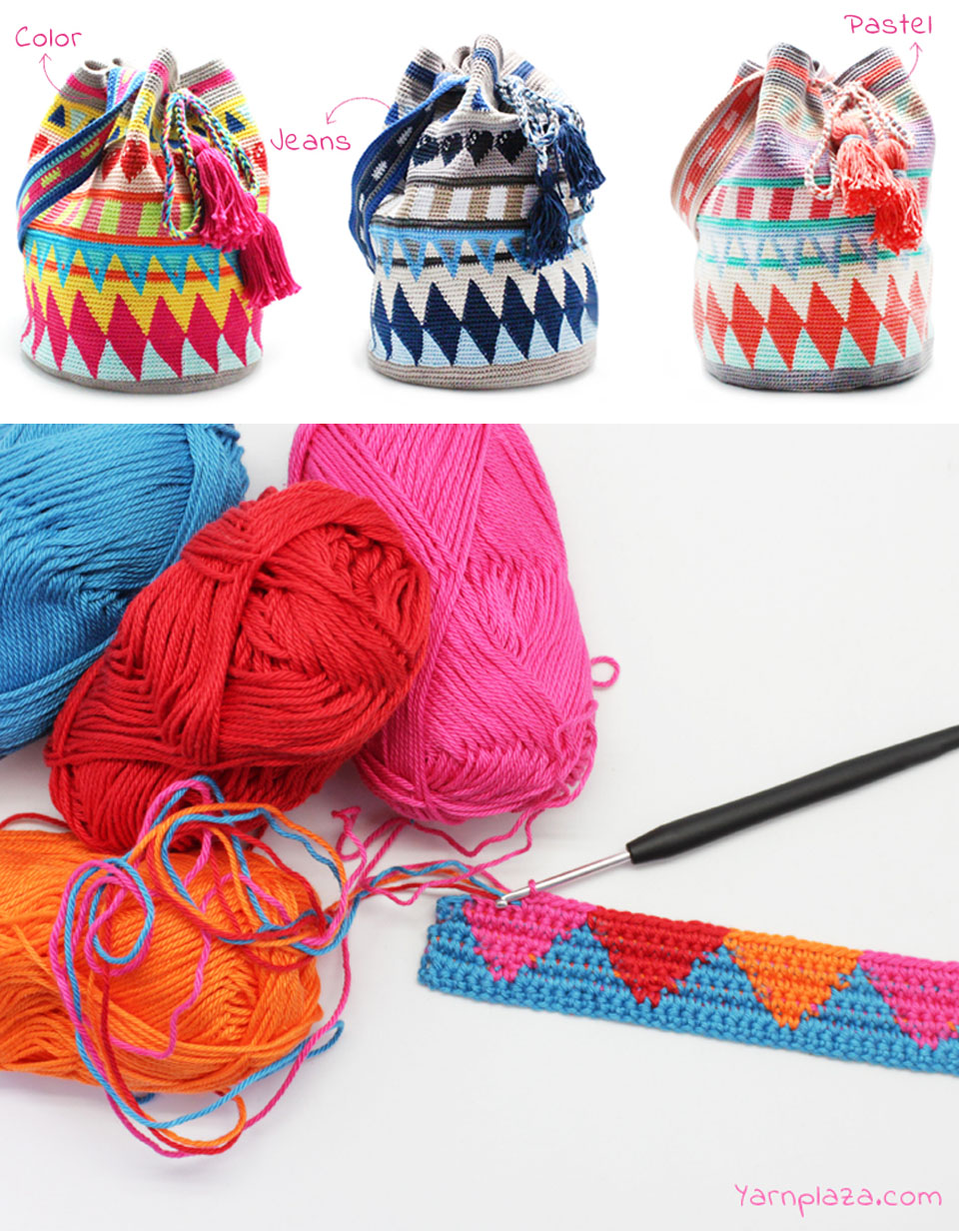 Multicolor Mochila Tapestry Pattern Tutorial