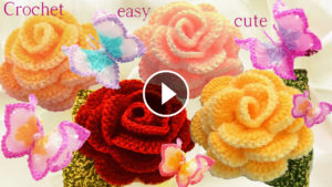 Crochet Rose Flower 3D Tutorial