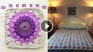 Granny Square Blanket Pattern And Tutorial