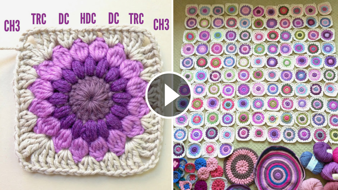 Sunburst Crochet Granny Square Pattern And Tutorial