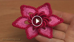 3D Irish Flower Crochet Pattern Tutorial