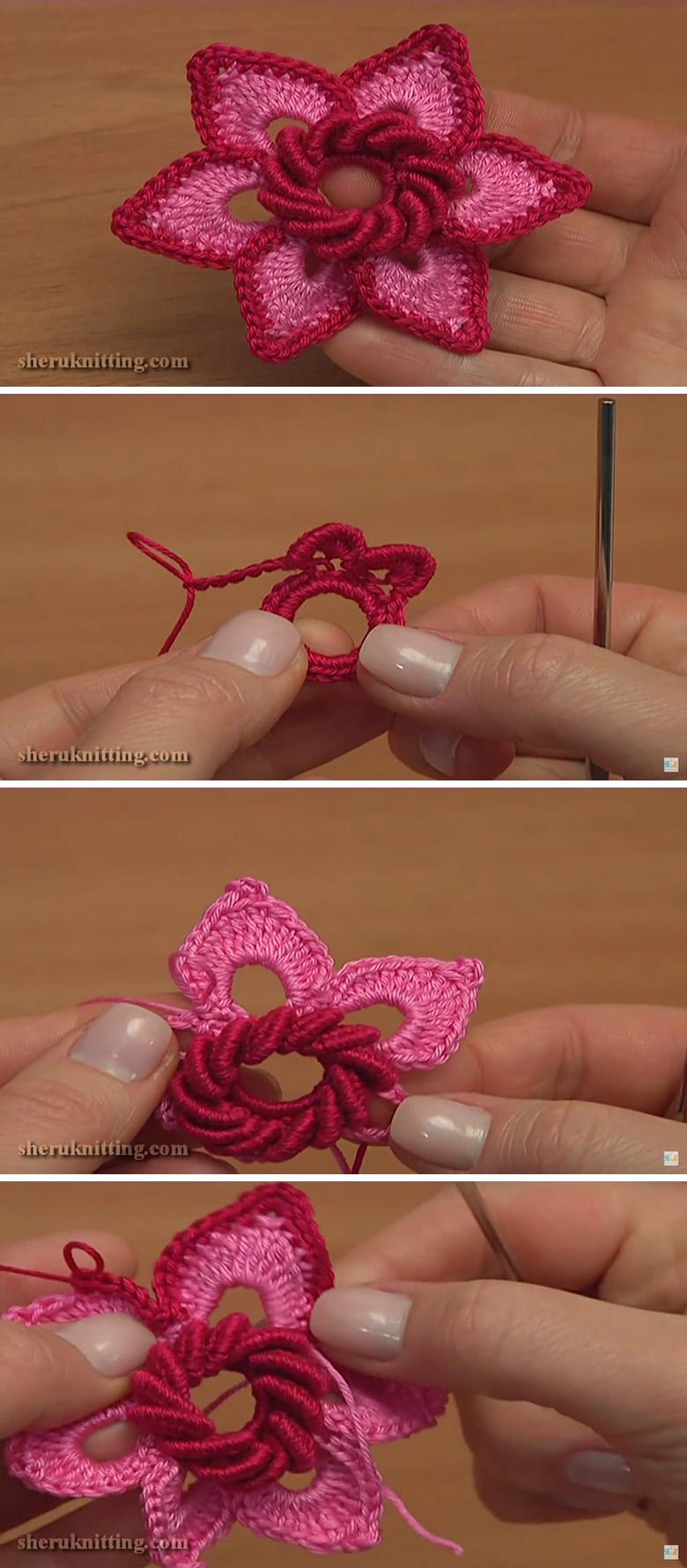 3D Irish Flower Crochet Pattern