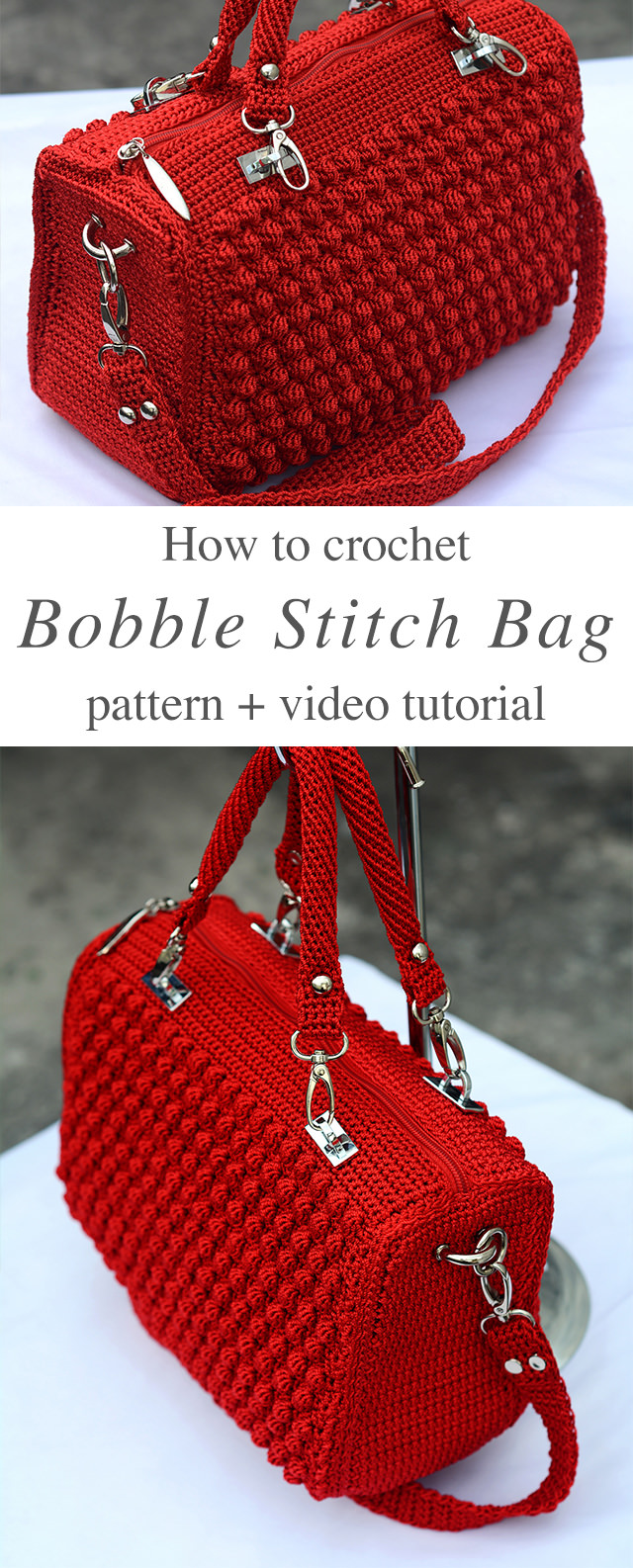 Crochet Bobble Stitch Handbag Pattern Crochetbeja