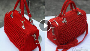 Bobble Stitch Handbag Crochet Pattern Tutorial