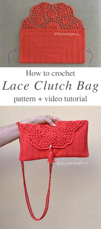 Pretty Handbag Crochet Pattern Tutorial Crochetbeja