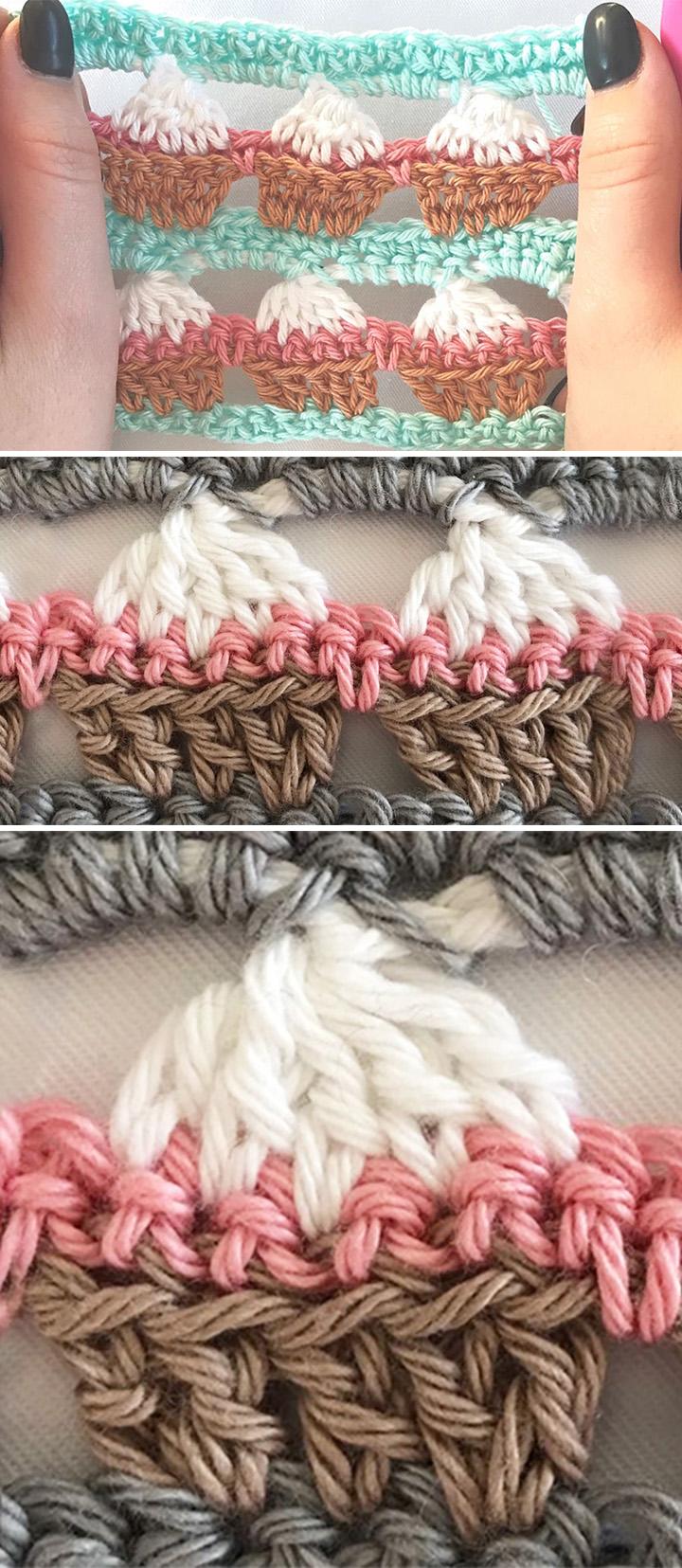 Cupcake Stitch Crochet Pattern