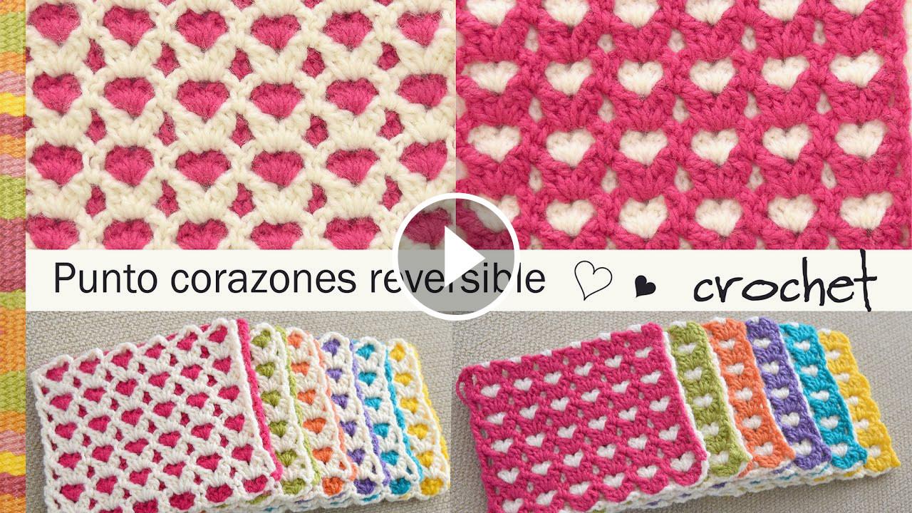 Heart Stitch Crochet Pattern Tutorial