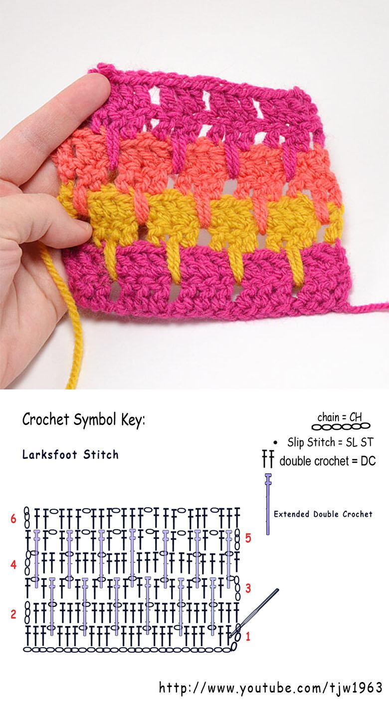 Larks Foot Stitch Crochet Pattern Tutorial   CrochetBeja