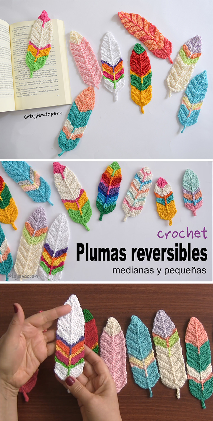 Reversible Feathers Crochet Pattern Tutorial
