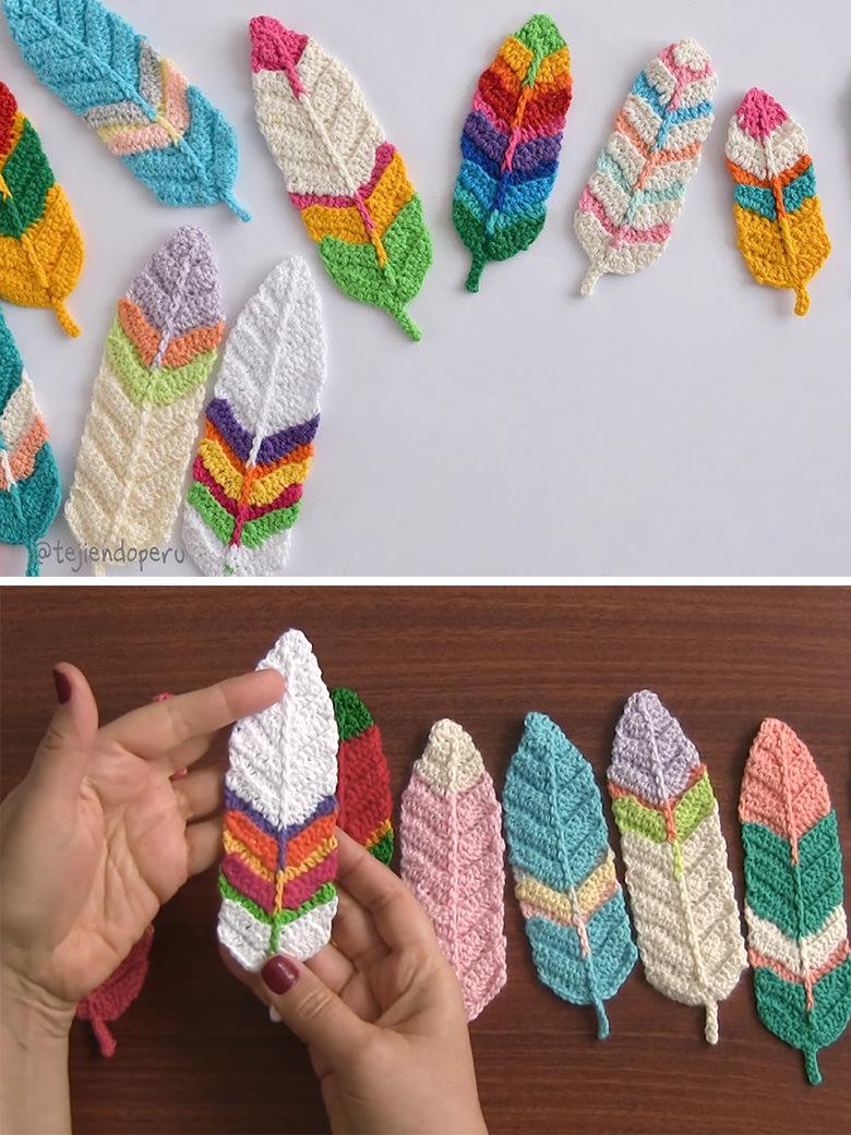 Reversible Feathers Crochet Pattern Tutorial