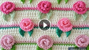 Rose Flower Stitch Crochet Pattern Tutorial