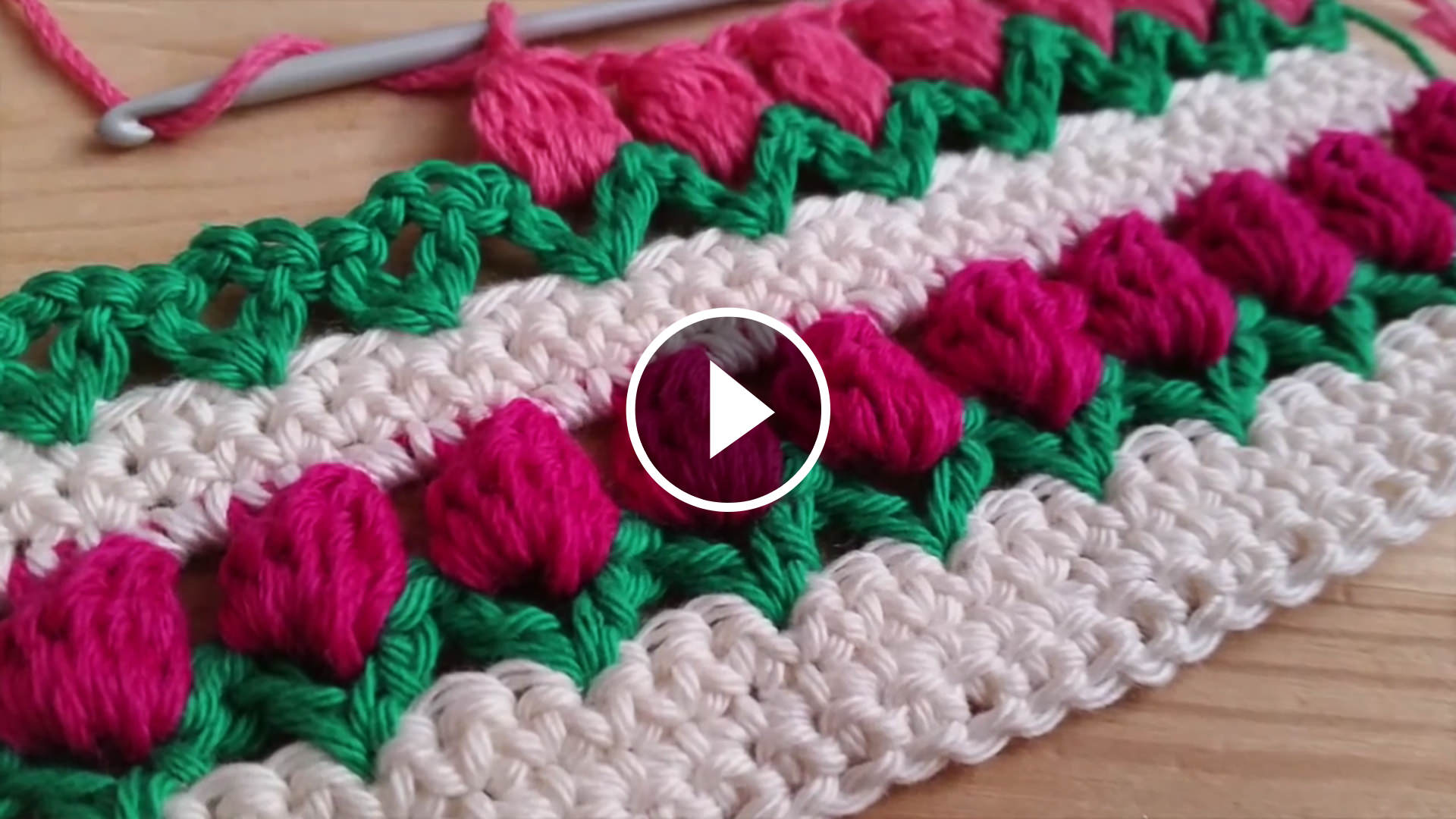 Tulip Stitch Crochet Pattern Tutorial | CrochetBeja