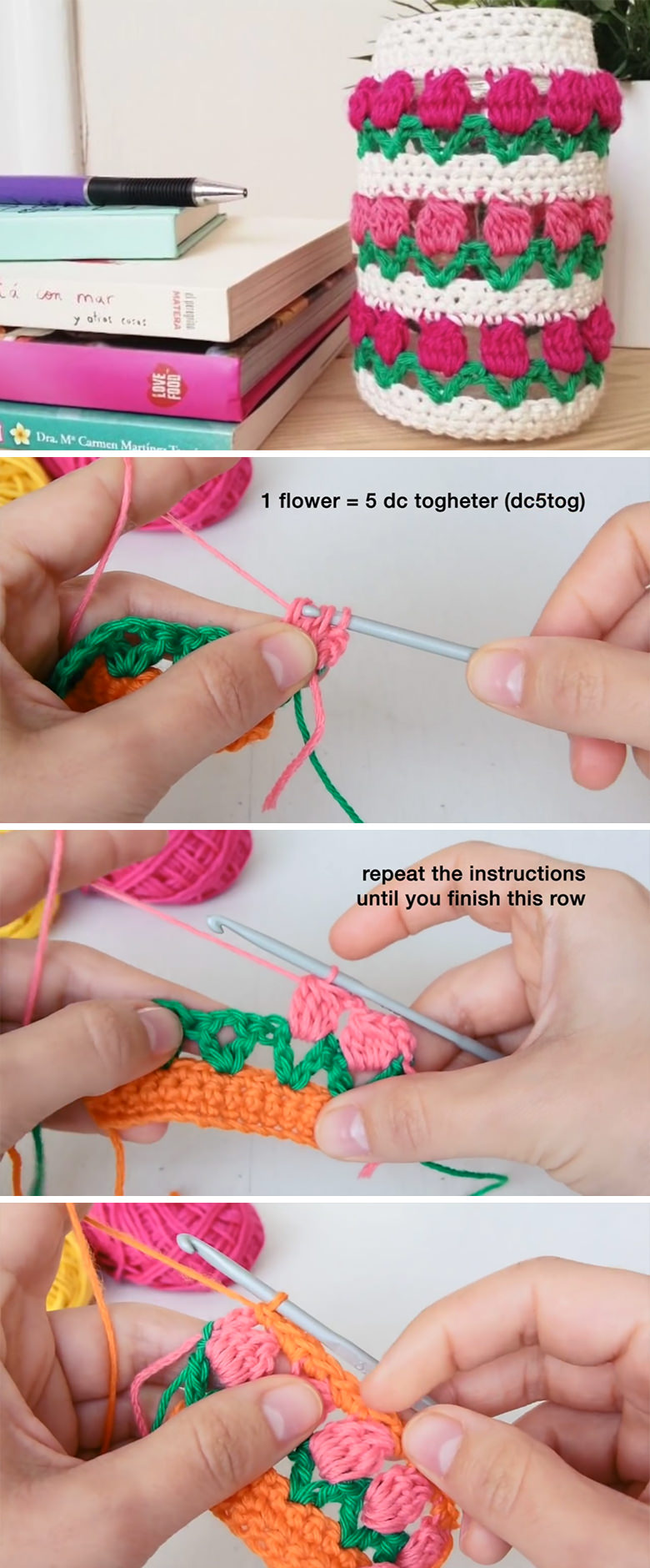 Tulip Stitch Free Crochet Pattern Tutorial