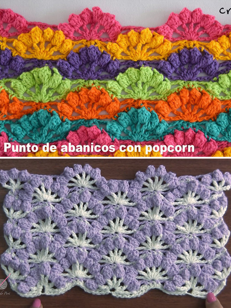 Fan Stitch Crochet Pattern Tutorial