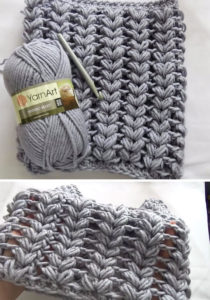 Braid Puff Stitch Cowl Crochet Free Pattern Tutorial