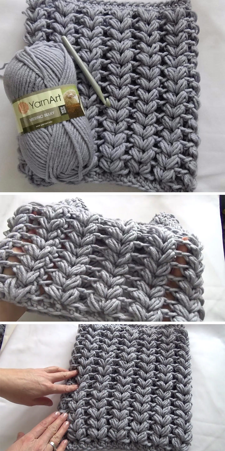 Braid Puff Stitch Cowl Crochet Free Pattern Tutorial
