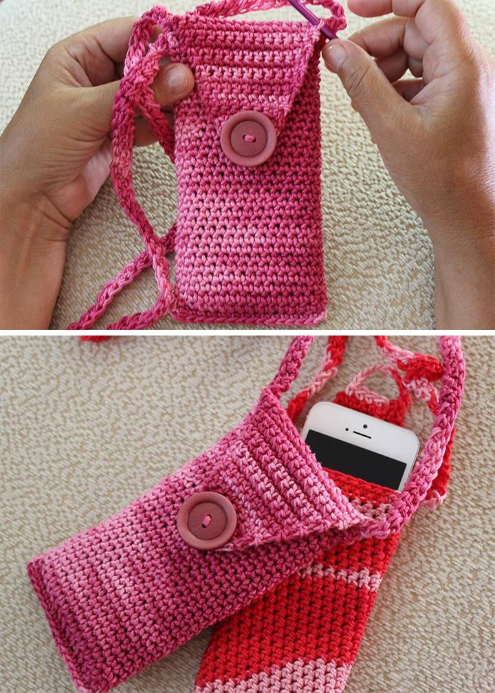 Fancy Phone Case Crochet Free Pattern Preview