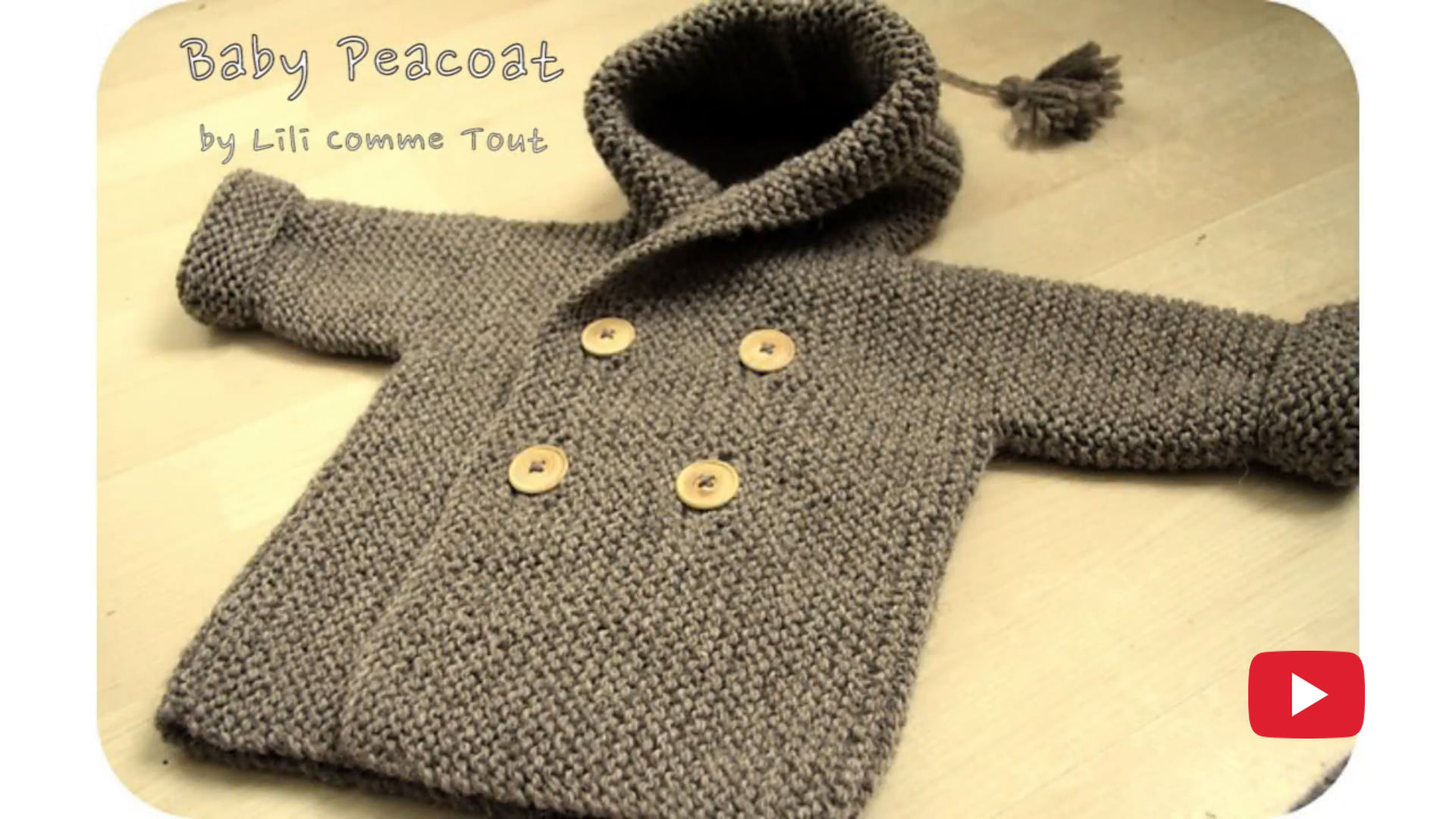Baby Peacoat Knit Pattern Tutorial