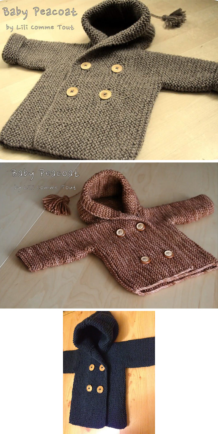 Knit Baby Peacoat Free Pattern Tutorial