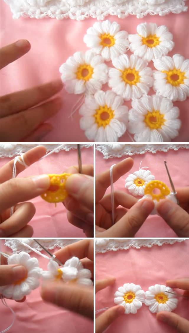 Flowers Blanket Crochet Pattern