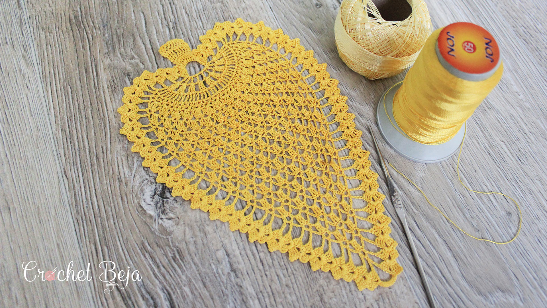 Pineapple Motif Crochet Pattern & Tutorial
