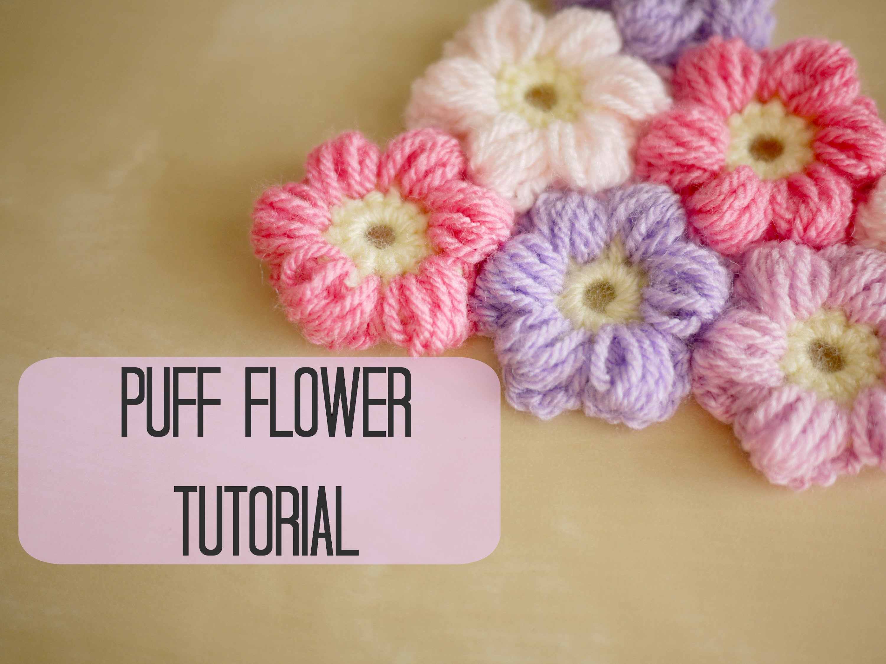 Puff Flowers Crochet Pattern & Video Tutorial