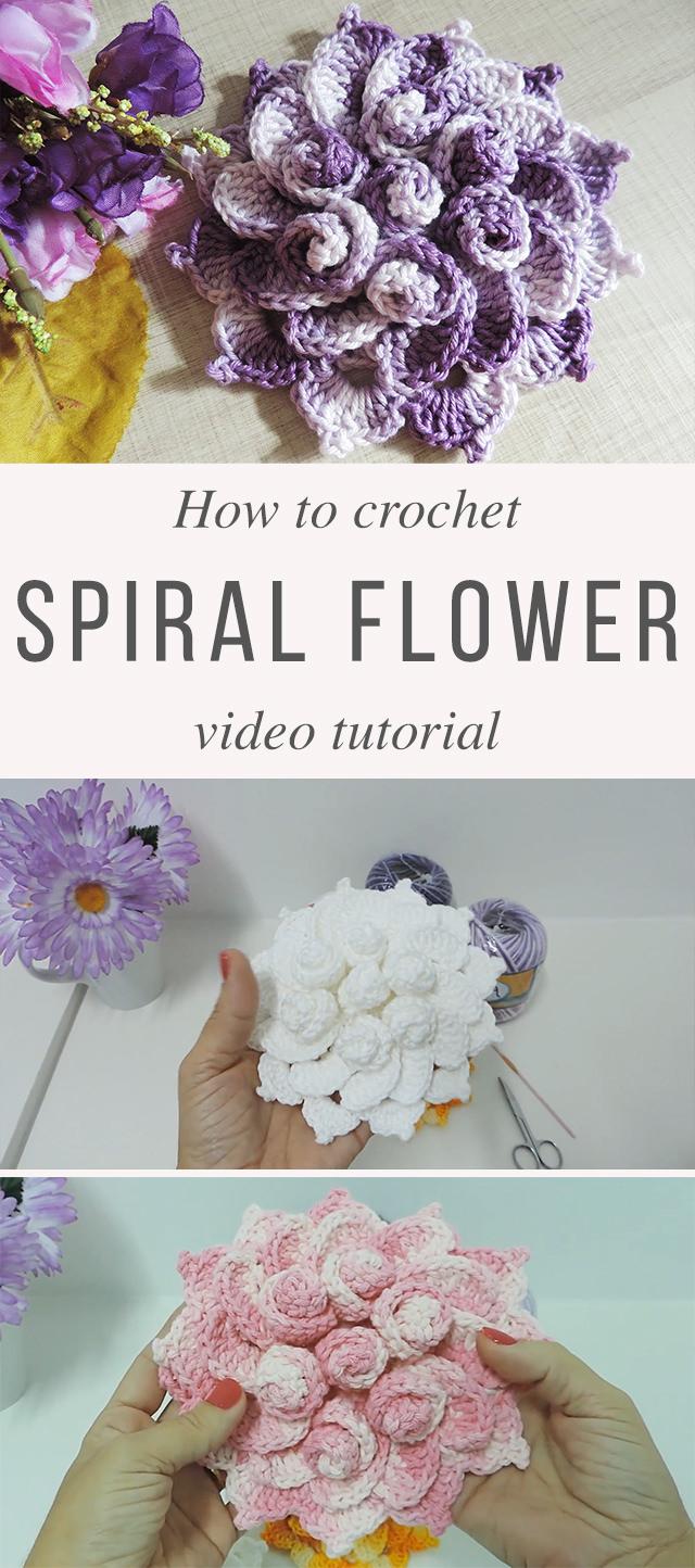 Spring Flower Crochet Pattern Tutorial | CrochetBeja