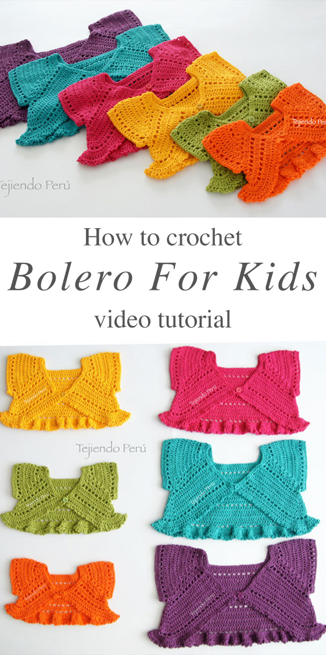 Lovely Butterfly Crochet Bolero For Kids Crochetbeja