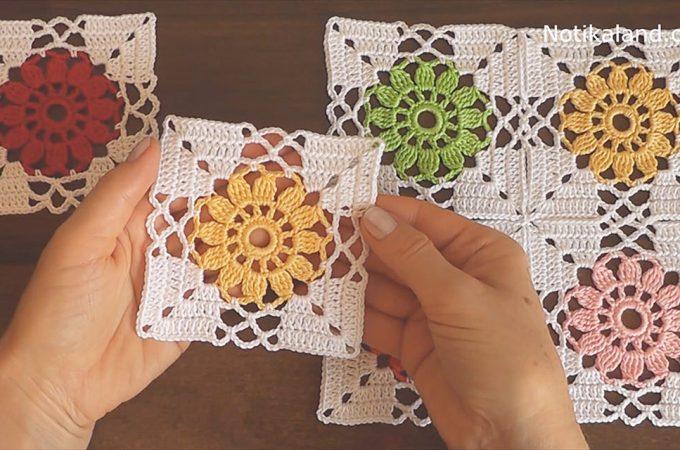 Crochet Flower Granny Square Image
