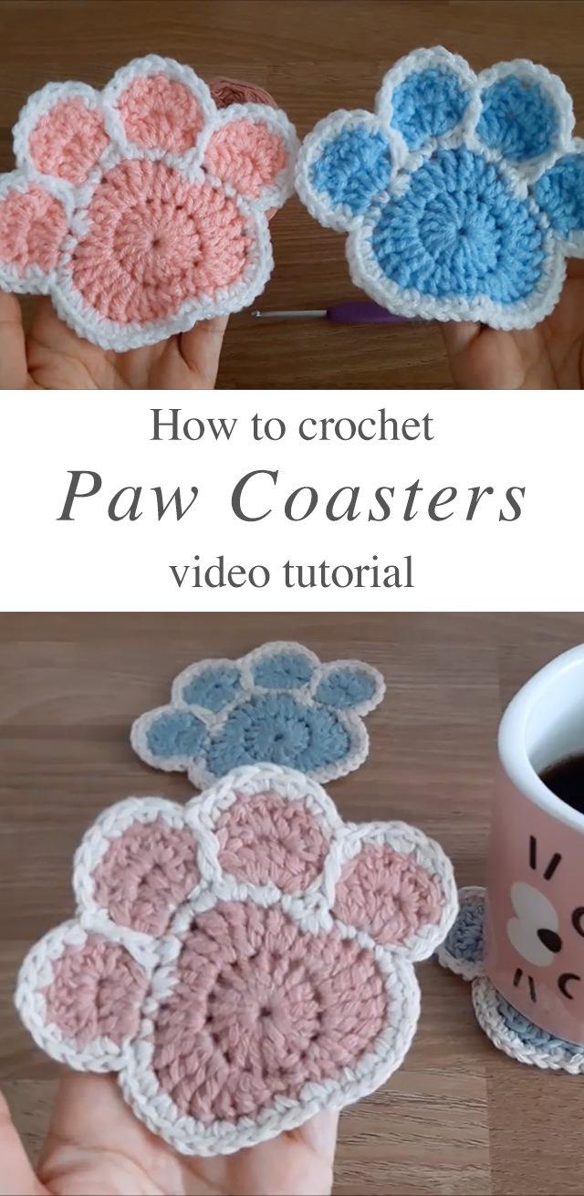 Crochet Cat Coasters | 1310x640