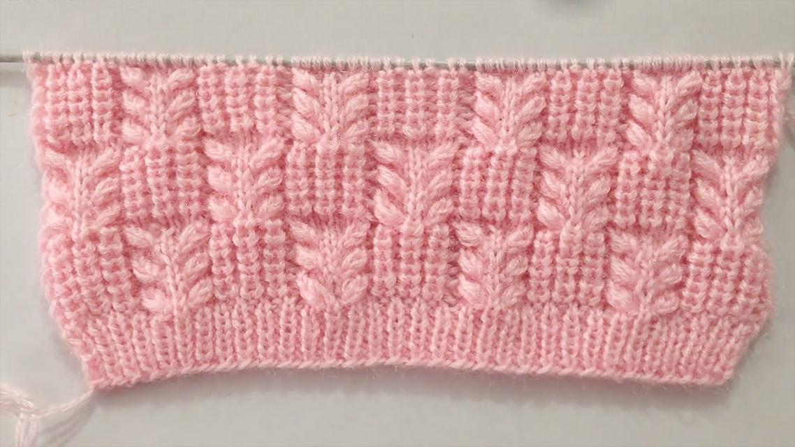 Knit Leaf Pattern You Could Learn Easily   CrochetBeja